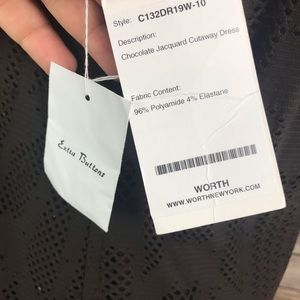 Worth Dresses - Worth New York Brown Jacquard Cutaway Dress